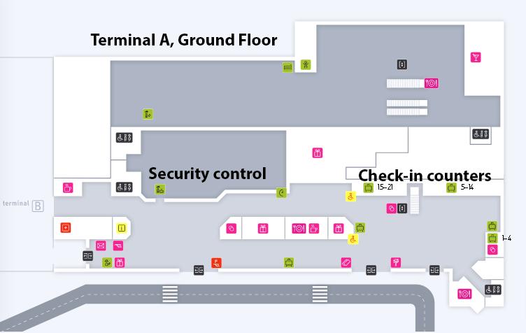 KTW-Departures-Katowice-Airport-Terminal-A-map