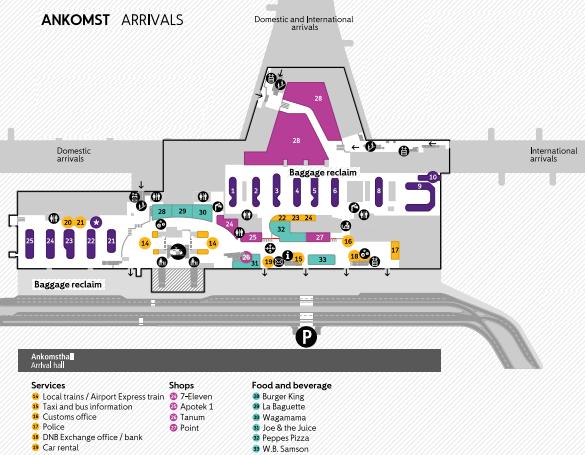 Oslo-Gardermoen-Airport-Arrivals-OSL-baggage-claim-terminal-map