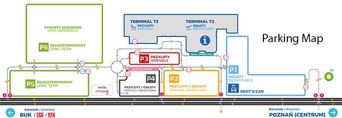 Poznań-Airport-Arrivals-POZ-parking-map