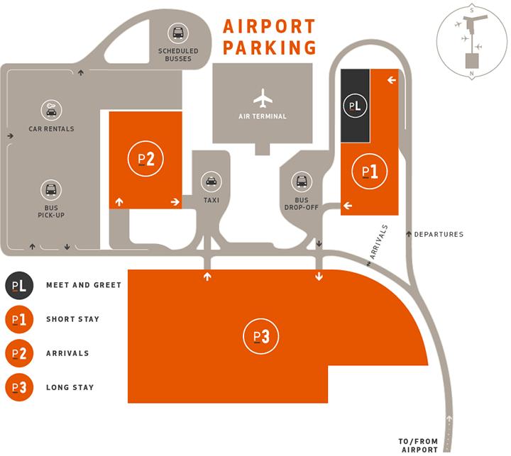 Reykjavík–Keflavík-Airport-Arrivals-KEF-parking-map