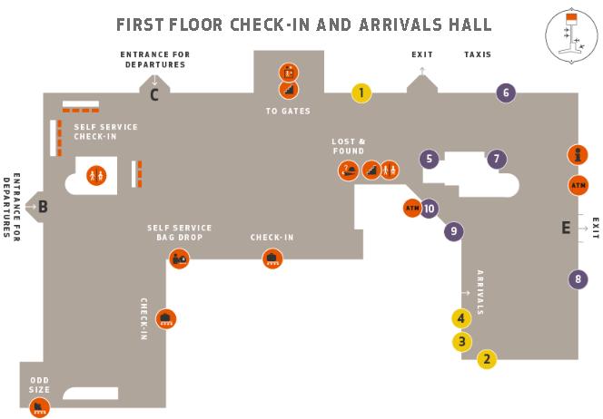 Reykjavík–Keflavík-Airport-Departures-KEF-check-in-terminal-map