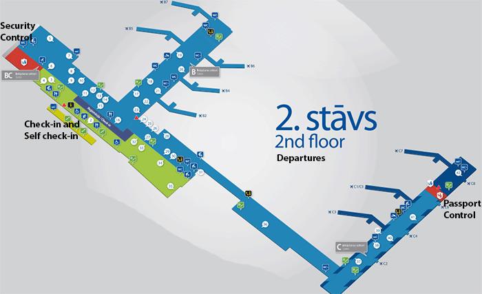 Riga-Airport-Departures-RIX-second-floor-terminal-map