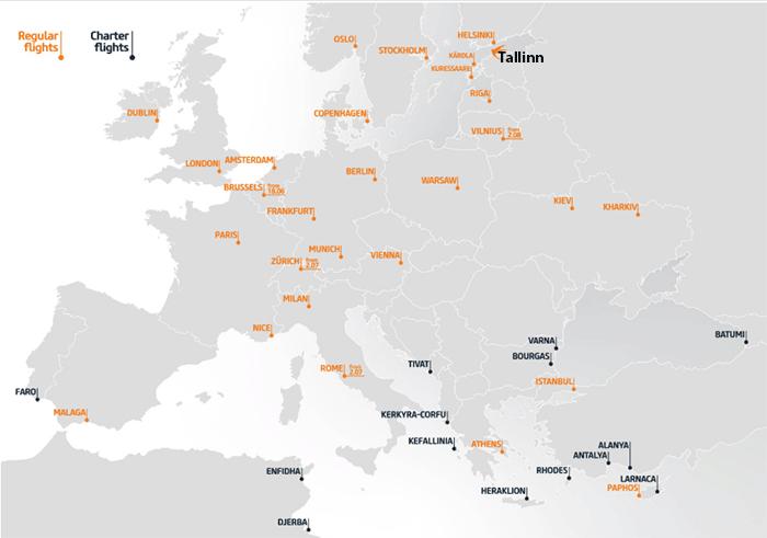 Tallinn-Airport-Departures-TLL-flight-destinations