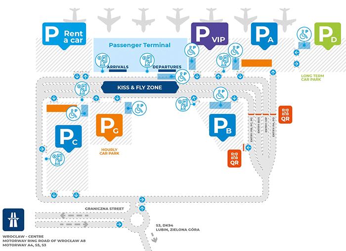 WRO-Arrivals-Wrocław-Airport-parking-map