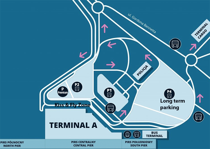 Warsaw-Chopin-Airport-Arrivals-WAW-parking-map