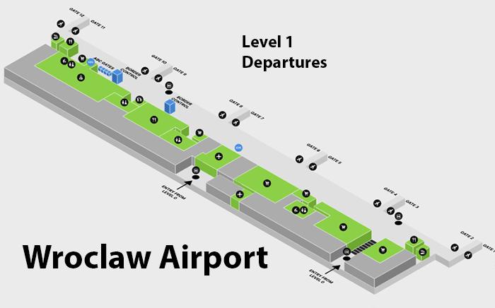 Wrocław-Airport-Departures-WRO-terminal-map-floor-1